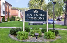 Centennial Commons - Building Monument Sign