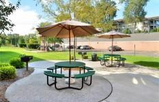 Centennial Commons - Building Patio BBQ Area