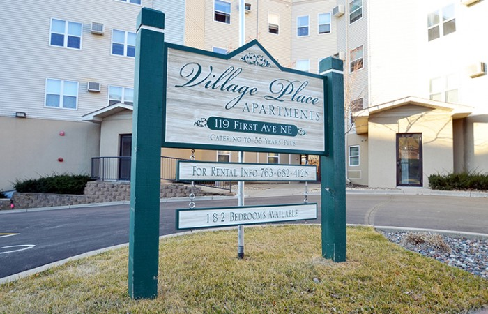 Village Place Sign